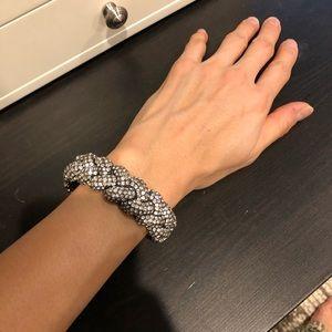 Vintage sparkly braided bangle bracelet